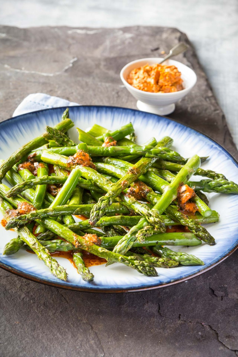 Roast asparagus with smoked paprika and thyme butter