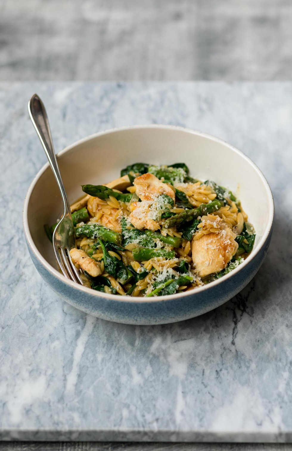 Asparagus Chicken and Spinach Orzo 2