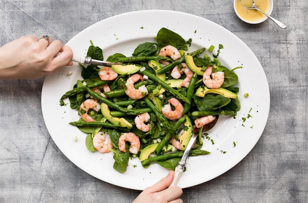 Asparagus, Prawn & Avocado Salad 6