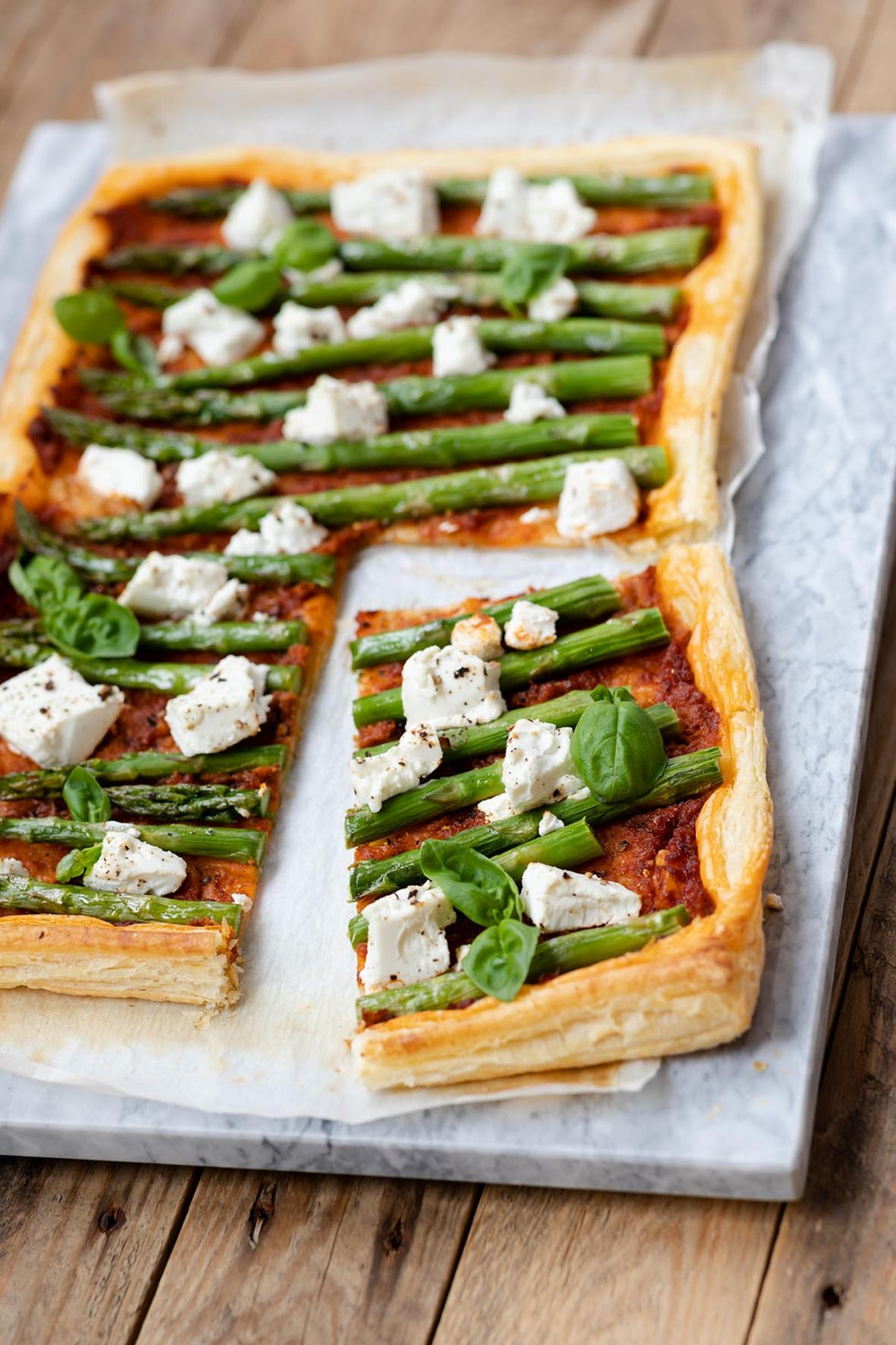 Asparagus, Tomato and Goats Cheese Tart 8